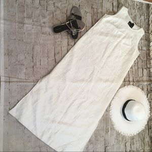 Beautiful linen/ rayon off white dress size M